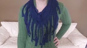 49 cent Friday shirt to fringe scarf refashion