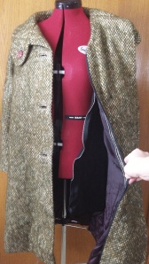 wool coat with removable liner