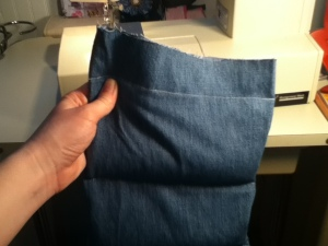 Sewing Sections for Heating Pad Refashion | Diary of a MadMama