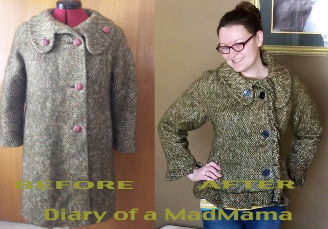 Ugly Coat Refashion | Diary of a MadMama