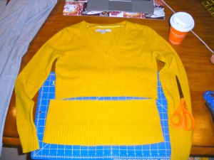 Refashioning a sweater | Diary of a MadMama
