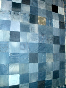 Refashioned Denim Quilt | Diary of a MadMama