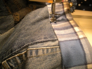 Refashioning a denim quilt | Diary of a MadMama