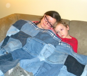 Denim Quilt Refashion | Diary of a MadMama