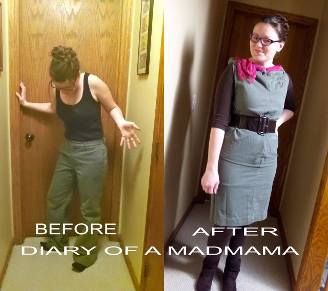 Dress Pants Refashion | Diary of a MadMama