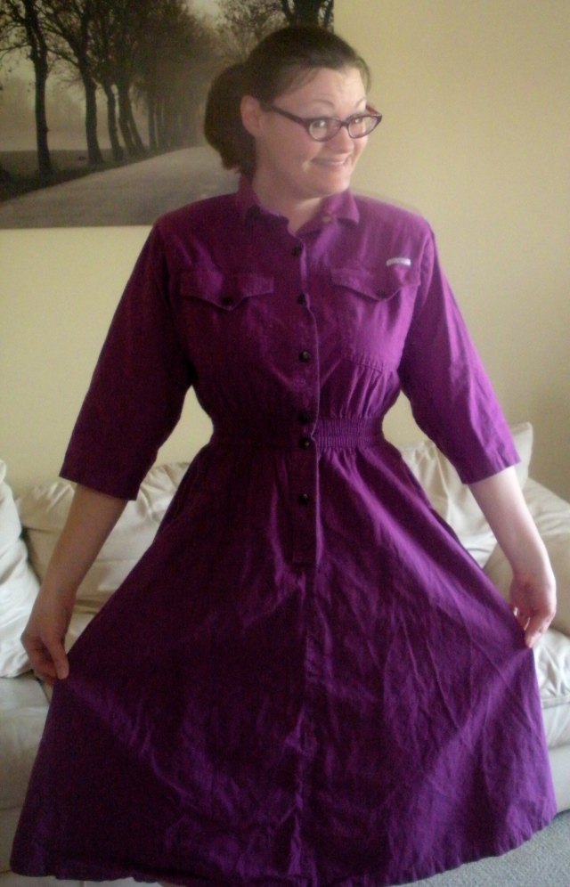 Purple Dress Refashion | Diary of a MadMama