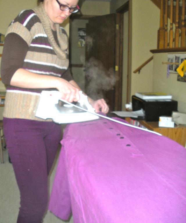 Purple Dress Refashion | Diary of a MadMama