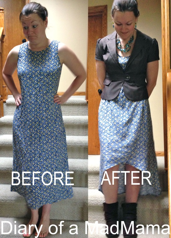 High-Low Dress Refashion | Diary of a MadMama