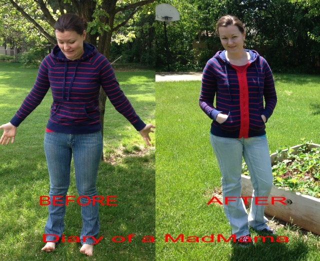 Hooded Sweatshirt Refashion | Diary of a MadMama