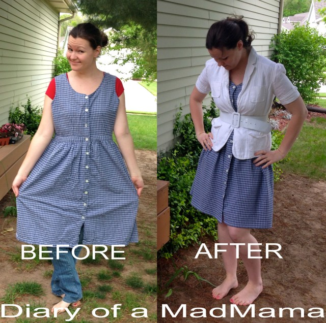 Plaid Dress Refashion | Diary of a MadMama