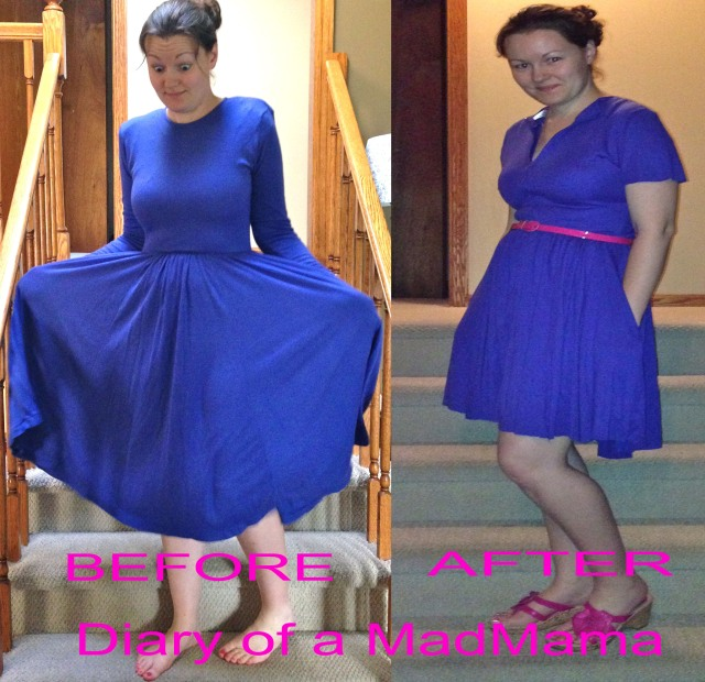 No-Sew Dress Refashion | Diary of a MadMama