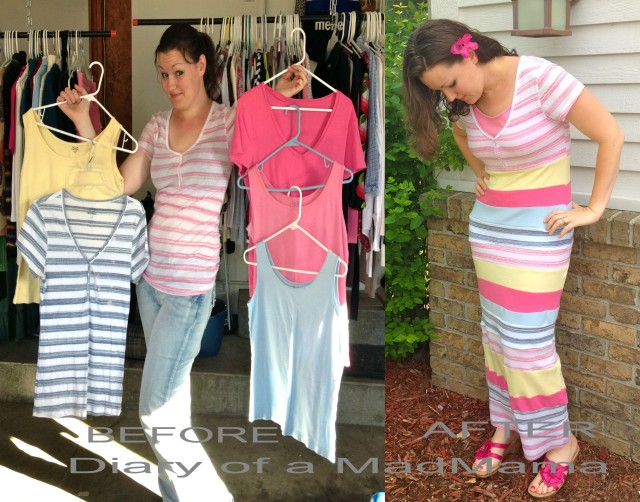 Refashion Runway Competition: Week One Stripes | Diary of a MadMama