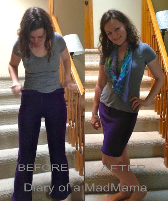 Purple Sweatpants Refashion | Diary of a MadMama