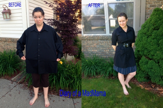 Men's Dress Shirt to LBD Refashion | Diary of a MadMama