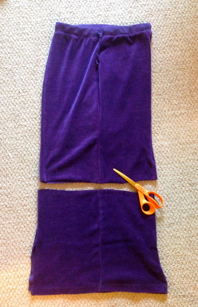 Purple Sweatpants Refashion | Diary of a MadMama