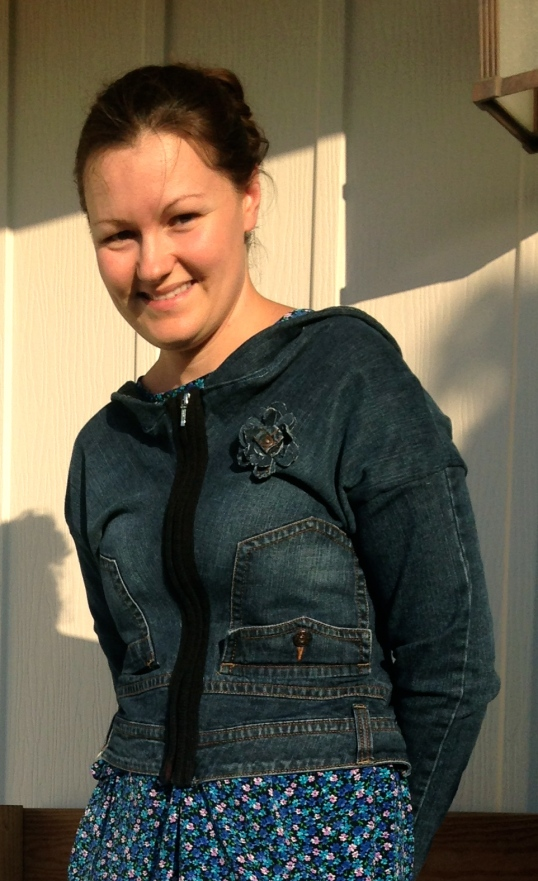 Jeans To Jacket Refashion | Diary of a MadMama