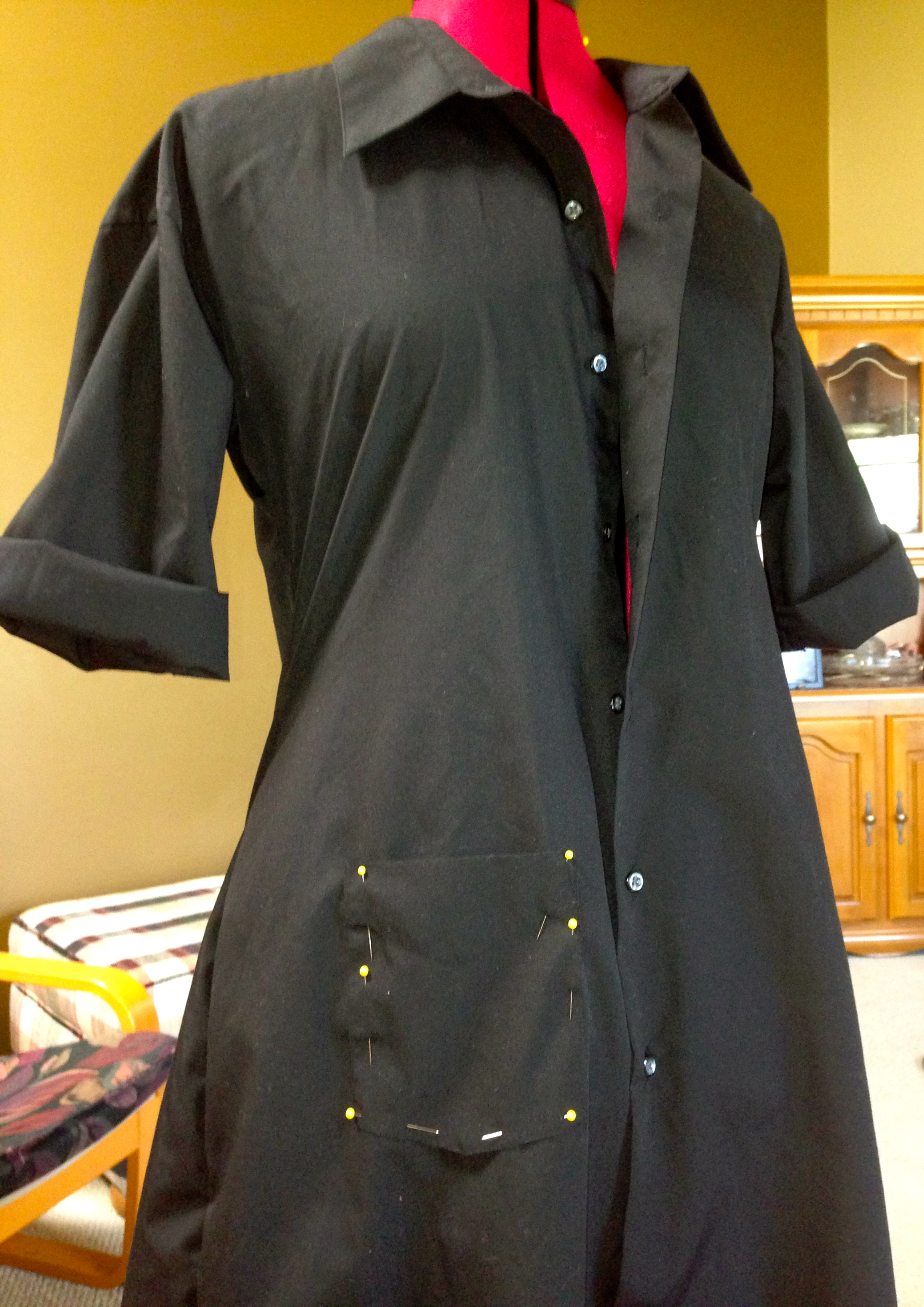 49-Cent FridayMens Dress Shirt to LBD Refashion Diary of a