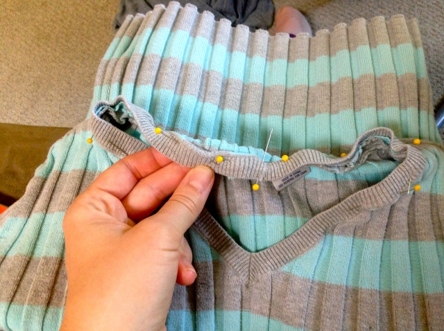 Refashioning 2 shirts into little girl's dress | Diary of a MadMama