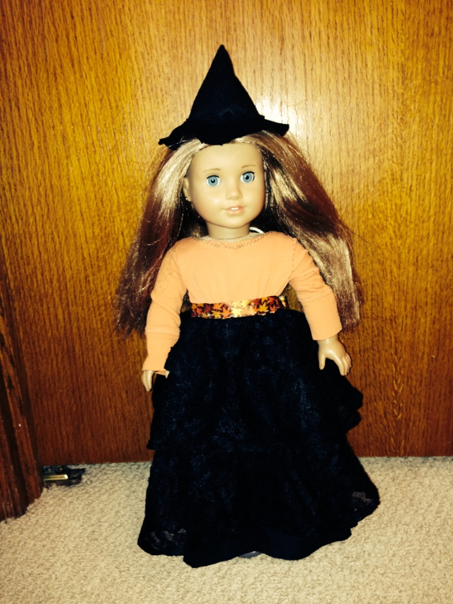 Refashioned Halloween Witch Costume for American Girl Dolls | Diary of a MadMama