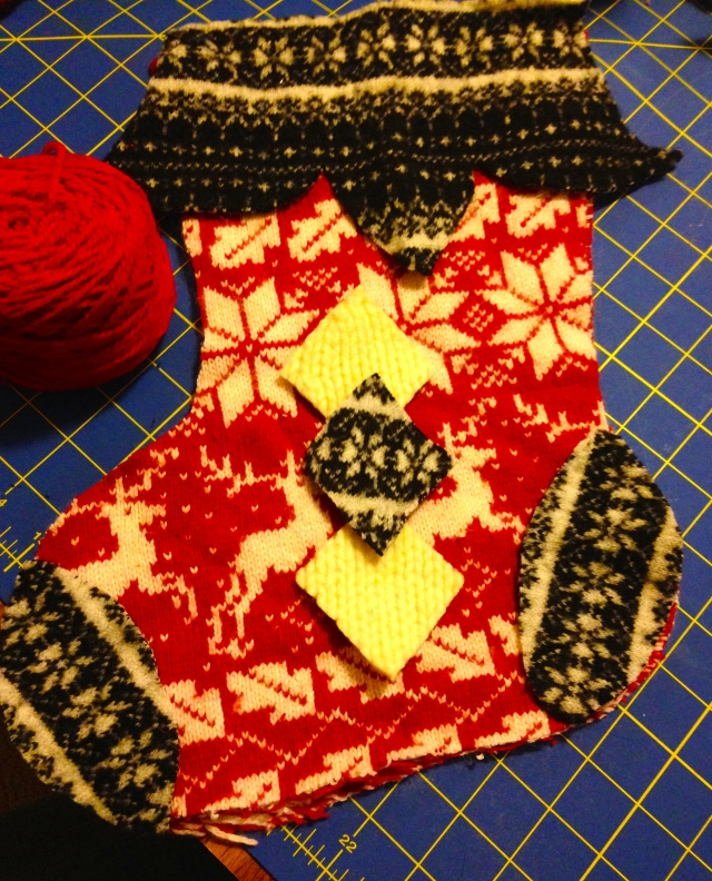 Christmas Stocking Refashioned From A Wool Sweater | Diary of a MadMama
