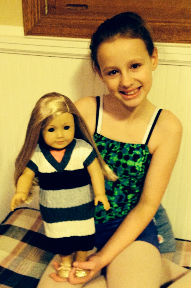 Toddler Sweater-Vest to American Girl Doll Sweater-Dress Refashion (Tutorial) | Diary of a MadMama