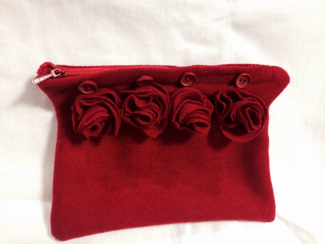 Refashioned Rose Clutch Tutorial | Diary of a MadMama